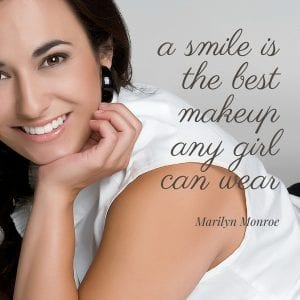 Woman Smiling Text: A smile is the best makeup any girl can wear